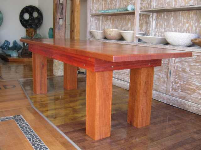 redgum slab dining table seasoned kiln dried timber sale